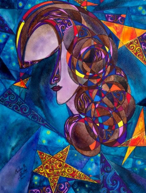 Poetess of Light, 11x14 [2012] [Bahareh Amidi]