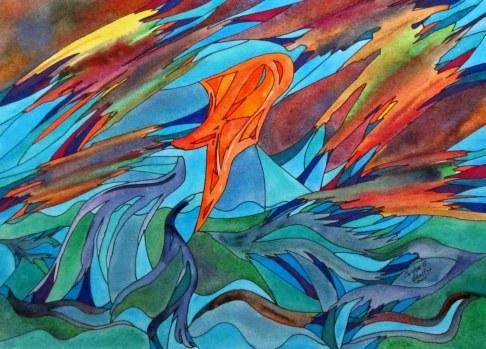 Alvaros Goldfris -or- On to the Next Pond, 14.5x10.5 [Cosas de la Primavera 2012]