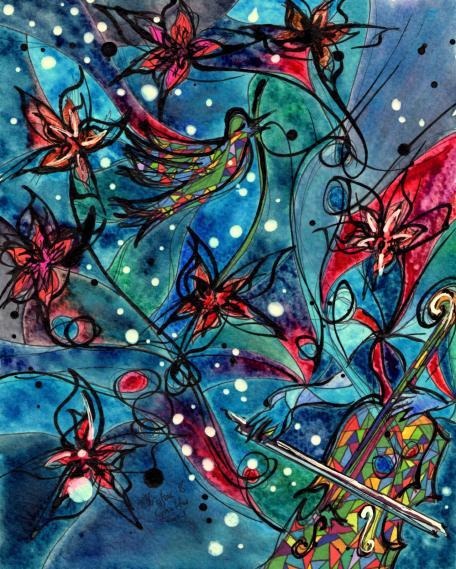 Dvorak's Cello, 8x10 [2013, New Beginnings]