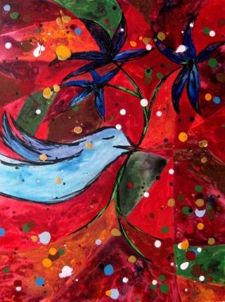 Late Spring Bluebird, 18x24 [6-2010]