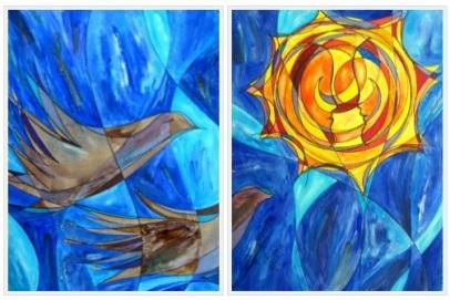 Neruda's Doves, 9x12 each [7-2012]