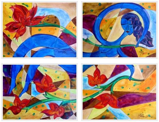 Primavera en Santiago, 9x12 each [2012]