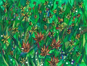 Chilean Wildflowers 4of7-Nature's Gift Bouquets - Splashes and Fountains of Blooms - Everywhere You Look, 14x11 [2013]
