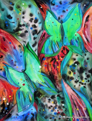 Fly, Fly Away, 18x24 - 4-2013, Enchanted Butterflies - watermark