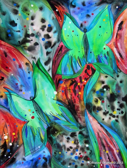 Fly, Fly Away, 18x24 - 4-2013, Enchanted Butterflies - watermark